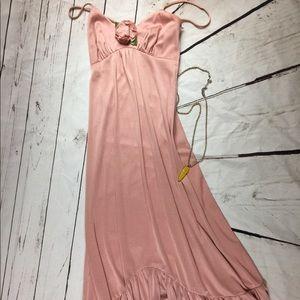 Pristine vintage blush prom gown 1970s